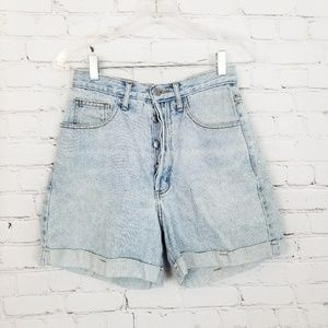 Guess|Vintage Button Fly Wedgie Hi-Rise Mom Shorts
